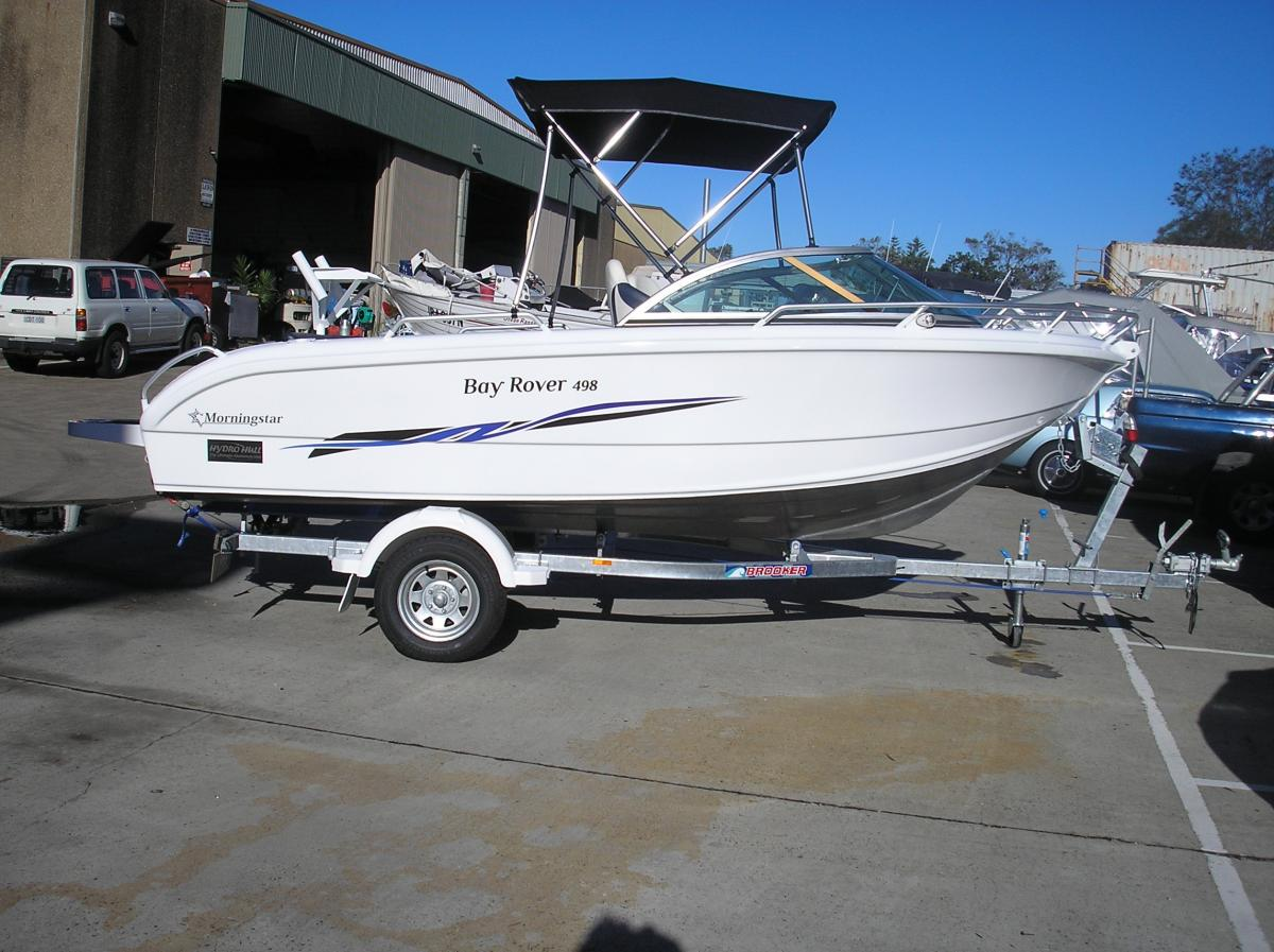 498 morningstar runabout enterprise for Runabout boats with outboard motors